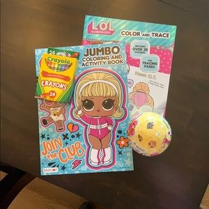 LOL Coloring/Activity Books, Clothing & Toy